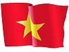 Векторный клипарт: развевающийся флаг Вьетнам
