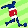 Векторный клипарт: футбол цвета Коста-Рики