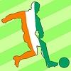 Векторный клипарт: футбол цвета Кот-д'Ивуара