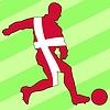 Векторный клипарт: футбол цвета Дании