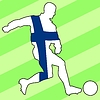 Векторный клипарт: футбол цвета Финляндии