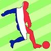Векторный клипарт: футбол цвета Франции