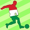 Vector clipart: football colours of Hungary
