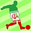 Vector clipart: football colours of Iran