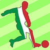 Vector clipart: football colours of Italy