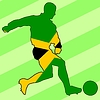 Vector clipart: football colours of Jamaica