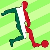 Vector clipart: football colours of Mexico
