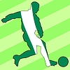 Vector clipart: football colours of Nigeria