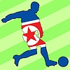 Vector clipart: football colours of North Korea