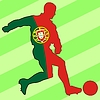 Vector clipart: football colours of Portugal