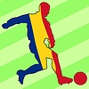 Vector clipart: football colours of Romania