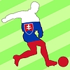 Vector clipart: football colours of Slovakia