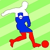 Vector clipart: football colours of Slovenia