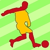 Vector clipart: football colours of Spain