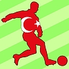 Vector clipart: football colours of Turkey