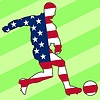 Vector clipart: football colours of United States
