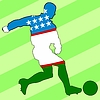 Vector clipart: football colours of Uzbekistan