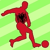 Vector clipart: football colours of Albania