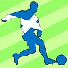 Vector clipart: football colours of Scotland