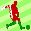 Vector clipart: football colours of Belarus