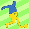 Vector clipart: football colours of Ukraine