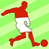 Vector clipart: football colours of Peru
