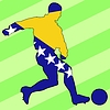 Vector clipart: football colours of Bosnia