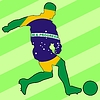 Vector clipart: football colours of Brazil