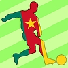 Vector clipart: football colours of Cameroon