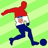Vector clipart: football colours of Croatia
