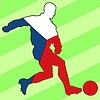 Vector clipart: football colours of Czech Republic