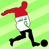 Vector clipart: football colours of Iraq