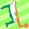 Vector clipart: football colours of Ireland