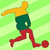 Vector clipart: football colours of Lithuania
