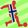 Vector clipart: football colours of Norway