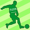 Vector clipart: football colours of Saudi Arabia