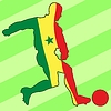 Vector clipart: football colours of Senegal