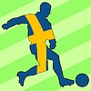 Vector clipart: football colours of Sweden
