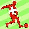 Vector clipart: football colours of Switzerland