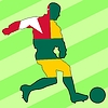 Vector clipart: football colours of Togo
