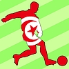 Vector clipart: football colours of Tunisia