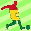 Vector clipart: football colours of Bolivia