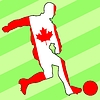Vector clipart: football colours of Canada