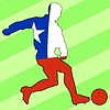 Vector clipart: football colours of Chile