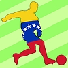 Vector clipart: football colours of Venezuela