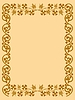 Vector clipart: vintage frame in old style