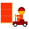 Vector clipart: worker trolley