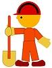 Vector clipart: digger