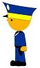 Векторный клипарт: Полицейский