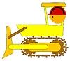 Векторный клипарт: бульдозер водитель